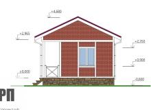 Фасад 2 - проект дома РосПроект 9
