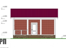 Фасад 3 - проект дома РосПроект 9