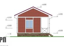 Фасад 4 - проект дома РосПроект 9