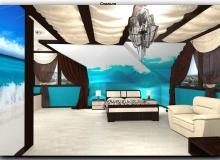 Спальная комната с необычным декором