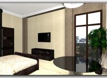 ТВ стенка в спальне