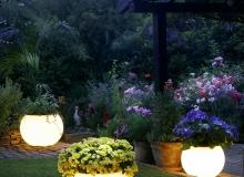 Садовые фонари на участке