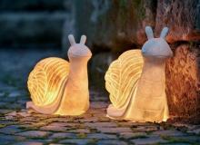 Садовый фонарь-улитка